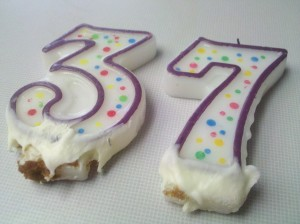 "Birthday Candles: ""37"""